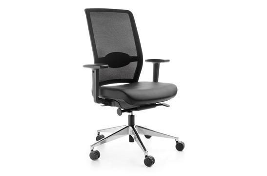 Fotele gabinetowe Veris net 101 SFL chrom P48PU