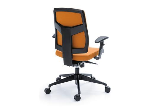Fotele pracownicze Raya 23S czarny P49PU baza chrom