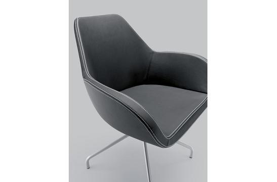 Krzesło konferencyjne Fan 10H metalik