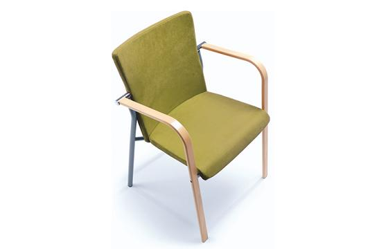 Krzesło konferencyjne Kala 670H wood chrom