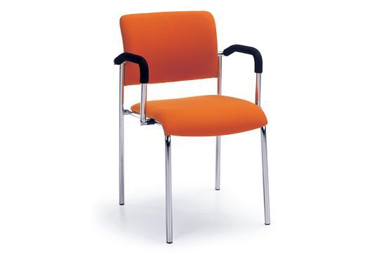 Krzesła konferencyjne Komo H chrom 2P