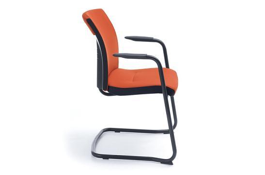 Krzesło konferencyjne One 21V czarny PU