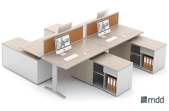 Panele między biurka aranżacja 03