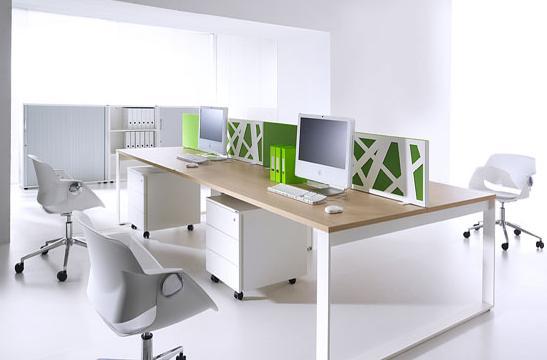 Panele między biurka aranżacja 04