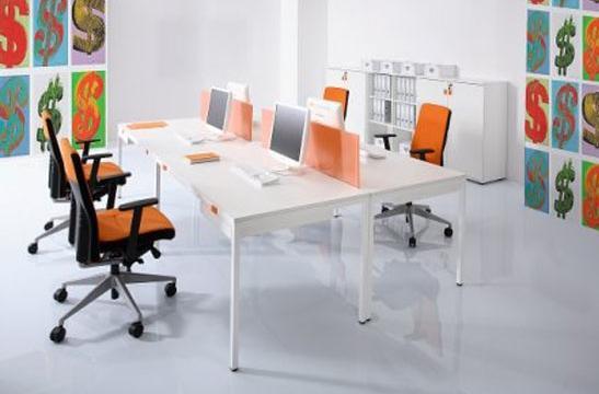 Panele między biurka aranżacja 05