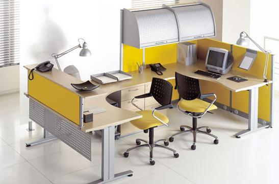 Panele między biurka aranżacja 07