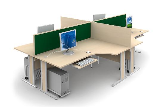 Panele między biurka aranżacja 10