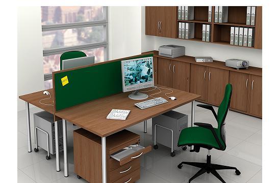 Panele między biurka aranżacja 11
