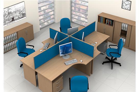 Panele między biurka aranżacja 12