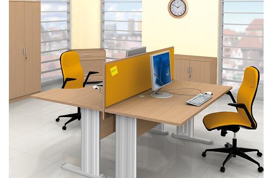 Panele między biurka aranżacja 13